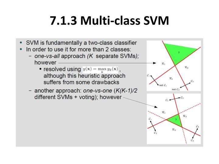 7.1.3 Multi-class SVM