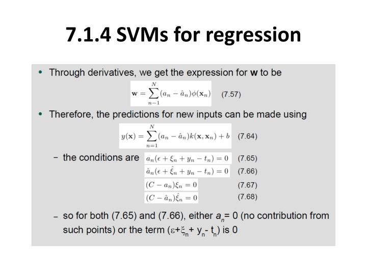 7.1.4 SVMs for regression