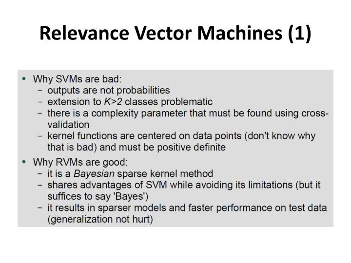 Relevance Vector Machines (1)