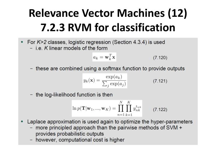 Relevance Vector Machines (12)