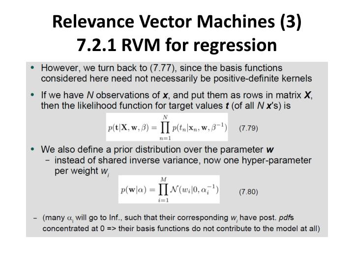 Relevance Vector Machines (3)