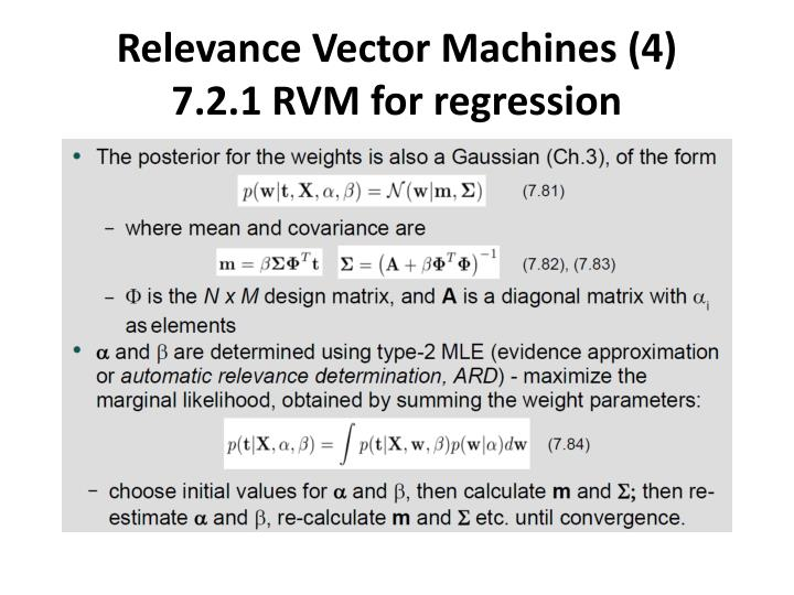 Relevance Vector Machines (4)