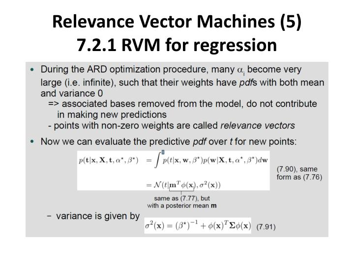 Relevance Vector Machines (5)