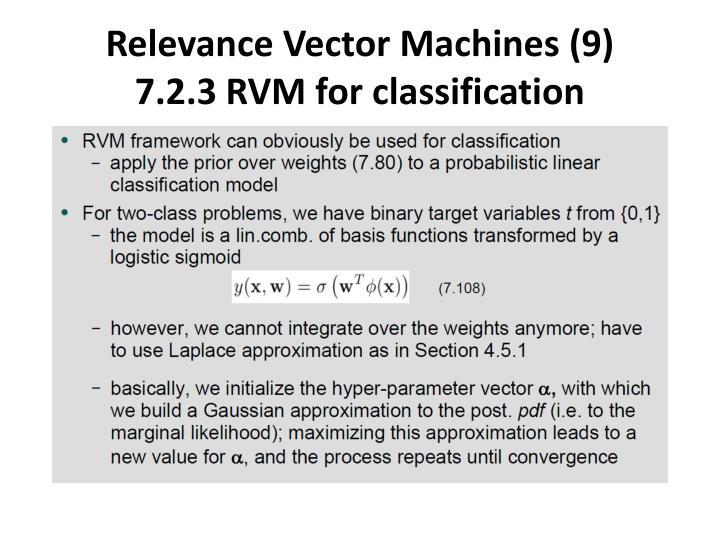 Relevance Vector Machines (9)