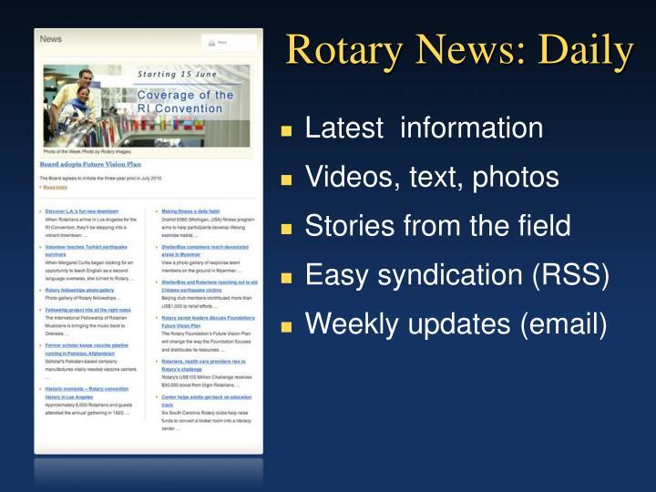 Rotary News: Daily