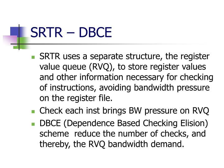 SRTR – DBCE