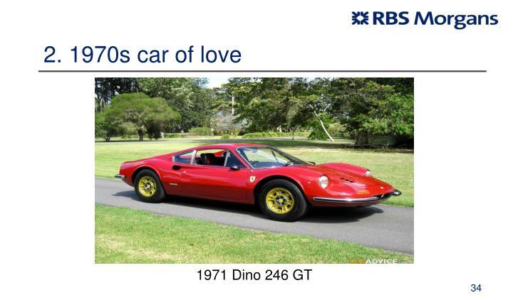 2. 1970s car of love