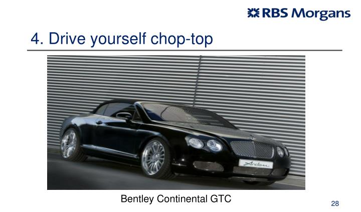 4. Drive yourself chop-top