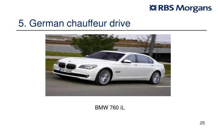5. German chauffeur drive