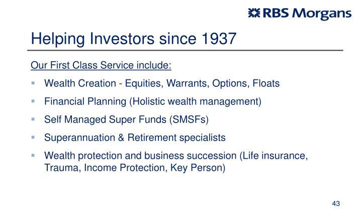 Helping Investors since 1937