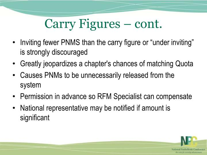Carry Figures – cont.