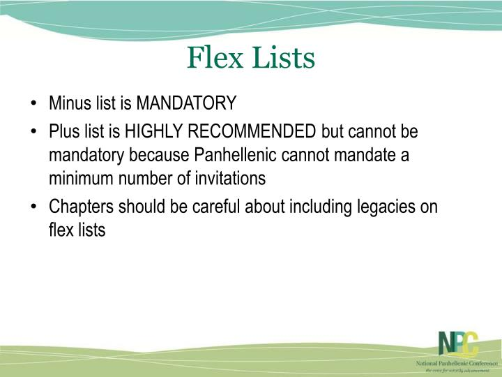 Flex Lists
