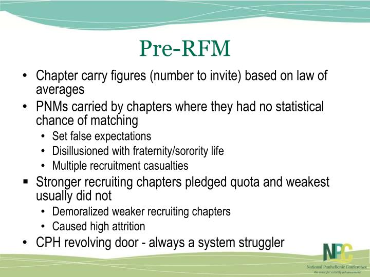 Pre-RFM