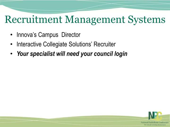 Recruitment Management Systems