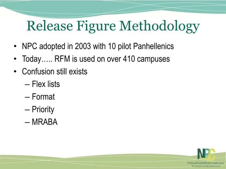 Release Figure Methodology