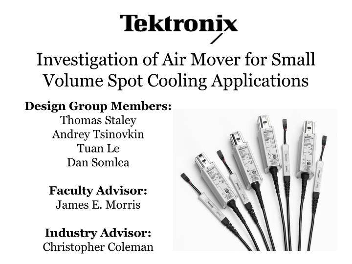 Investigation of air mover for small volume spot cooling applications