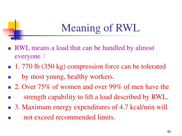 Meaning of RWL