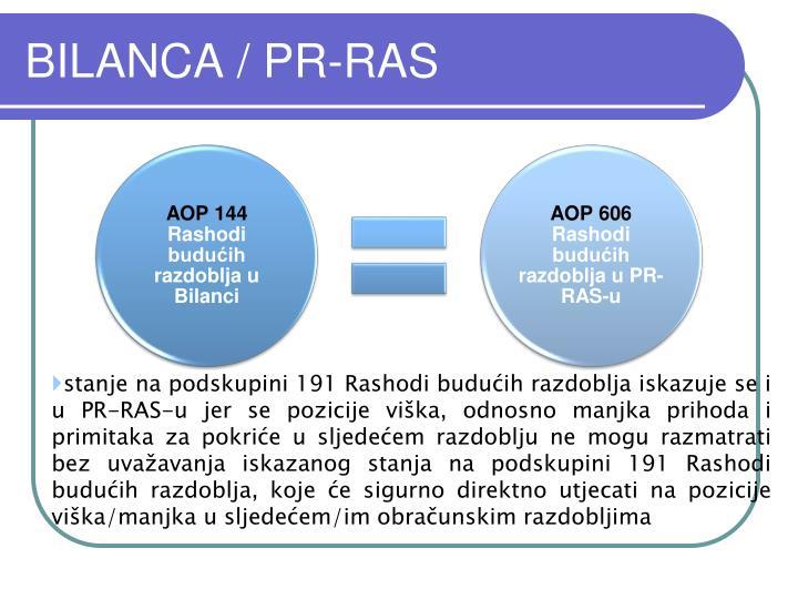 BILANCA / PR-RAS