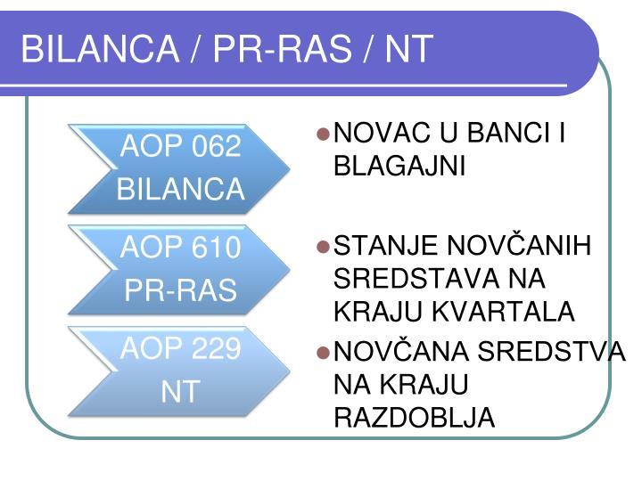 BILANCA / PR-RAS / NT