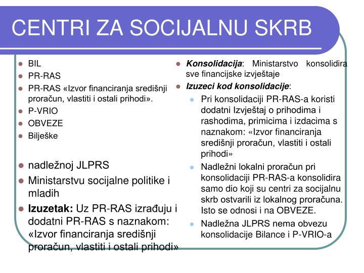 CENTRI ZA SOCIJALNU SKRB