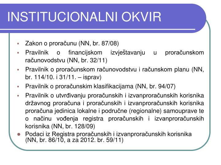 INSTITUCIONALNI OKVIR