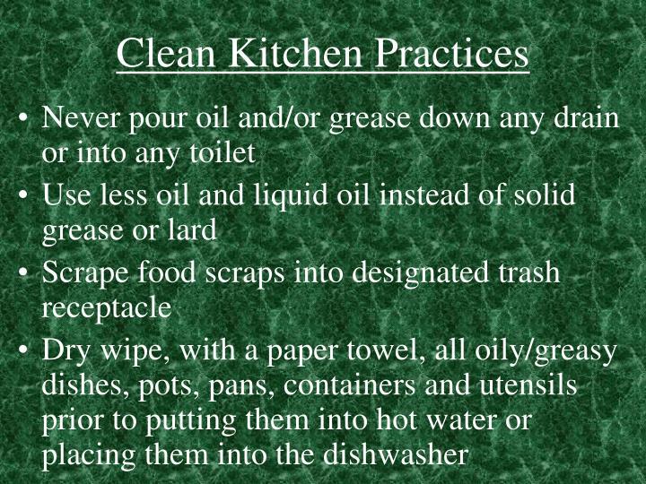 Clean Kitchen Practices
