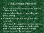 clean kitchen practices