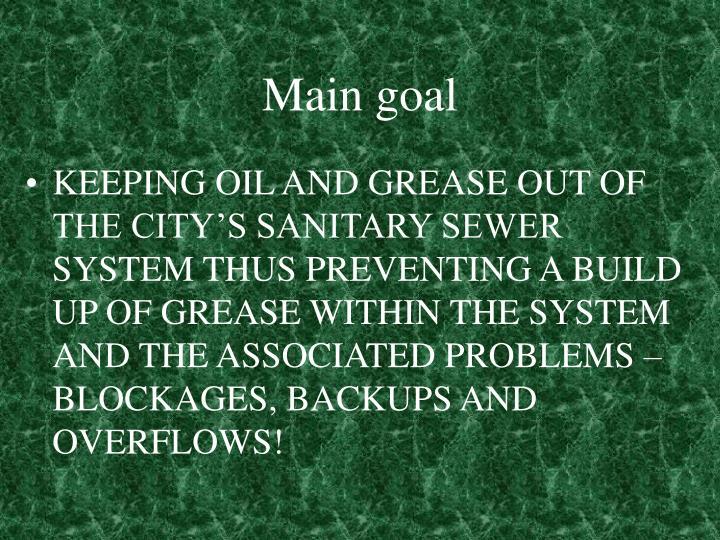 Main goal