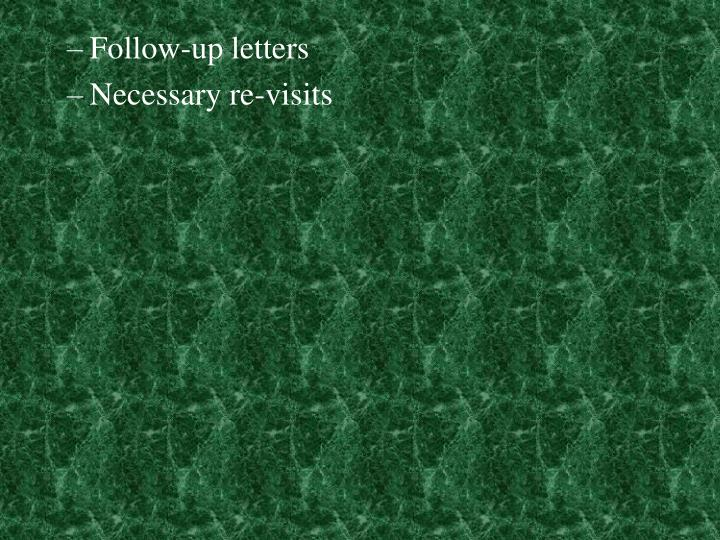 Follow-up letters