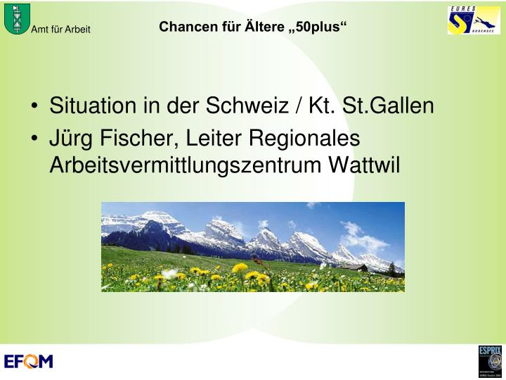 Situation in der Schweiz / Kt. St.Gallen