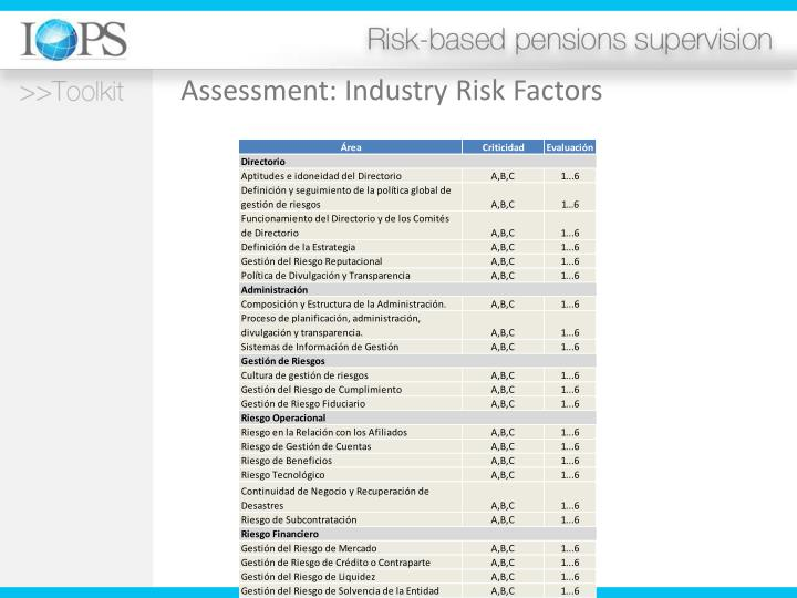 Assessment: Industry Risk Factors