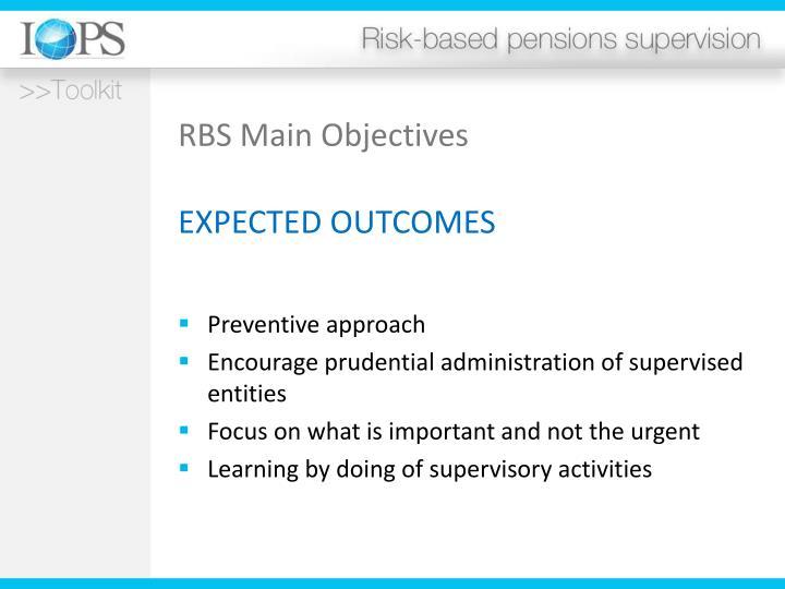 RBS Main Objectives