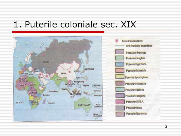 1. Puterile coloniale sec. XIX