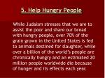5 help hungry people