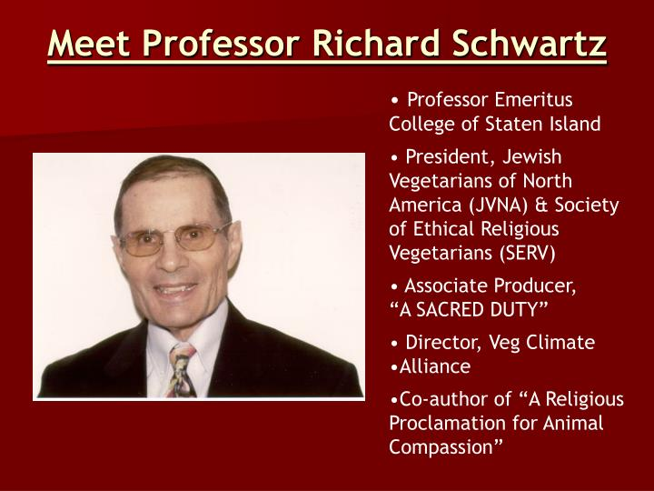 Meet Professor Richard Schwartz