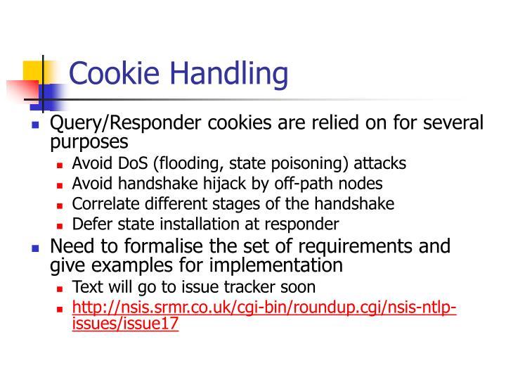 Cookie Handling