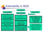 extensibility in nsis