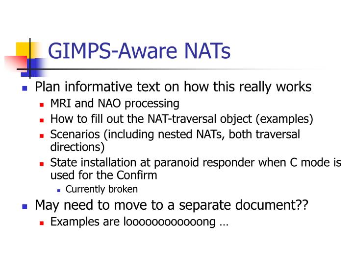 GIMPS-Aware NATs