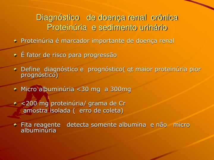 Diagnóstico   de doença renal  crônica