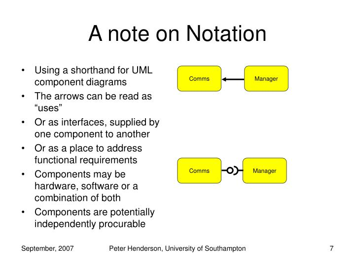 A note on Notation