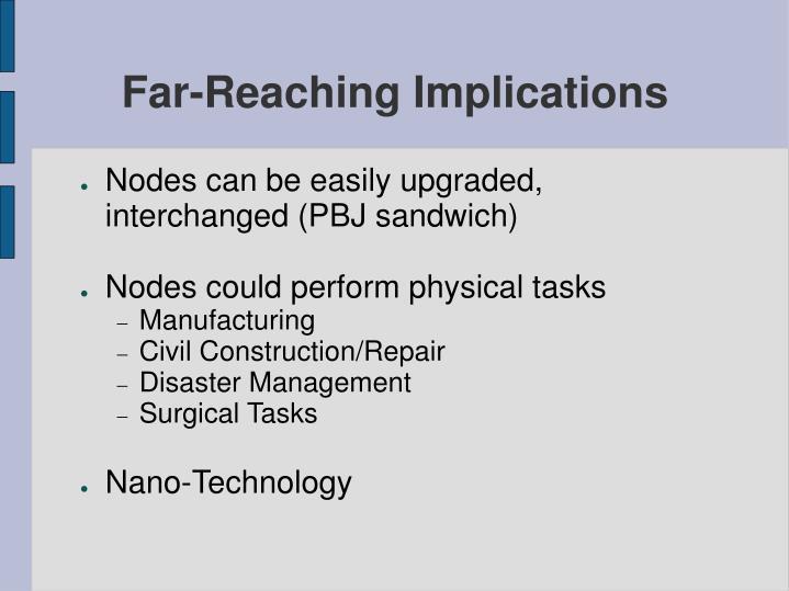 Far-Reaching Implications