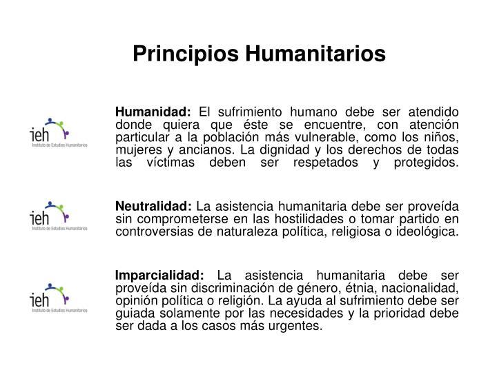 Principios Humanitarios