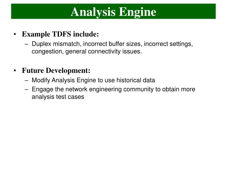 Analysis Engine