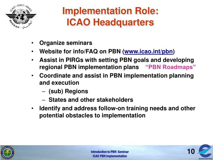 Implementation Role: