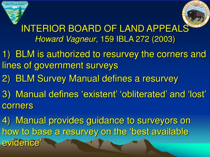 INTERIOR BOARD OF LAND APPEALS