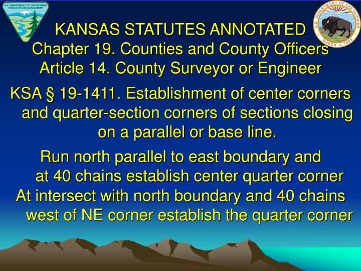 KANSAS STATUTES ANNOTATED