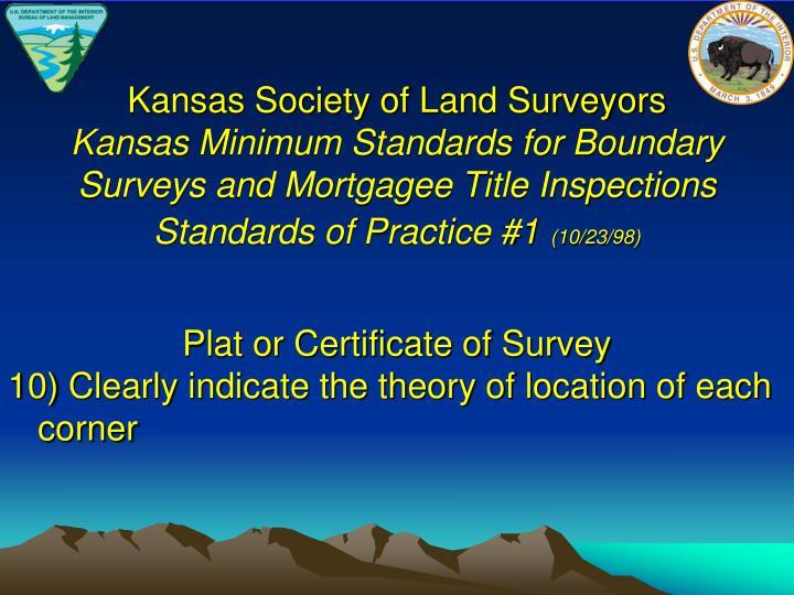 Kansas Society of Land Surveyors