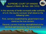 supreme court of kansas appeal of martin 86 kan 336 1912