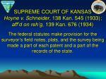 supreme court of kansas hoyne v schneider 138 kan 545 1933 aff d on reh g 139 kan 676 1934