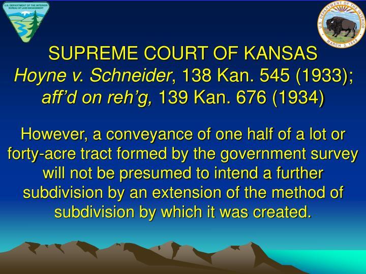 SUPREME COURT OF KANSAS